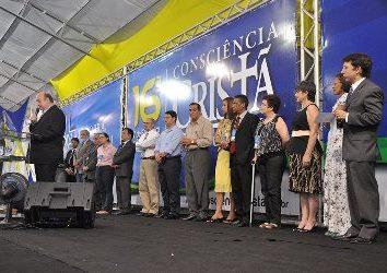 Preletores do evento no momento de leitura da Carta de Campina Grande