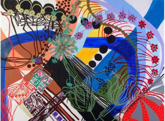 """Detalhe do quadro """"Natal"""" (2007), de Chrystiane Correa"""